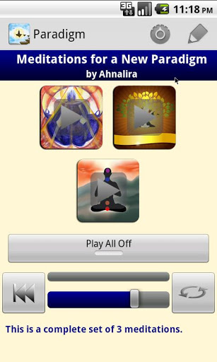 Meditations for a New Paradigm android app review