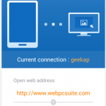 Web PC Suite android app review
