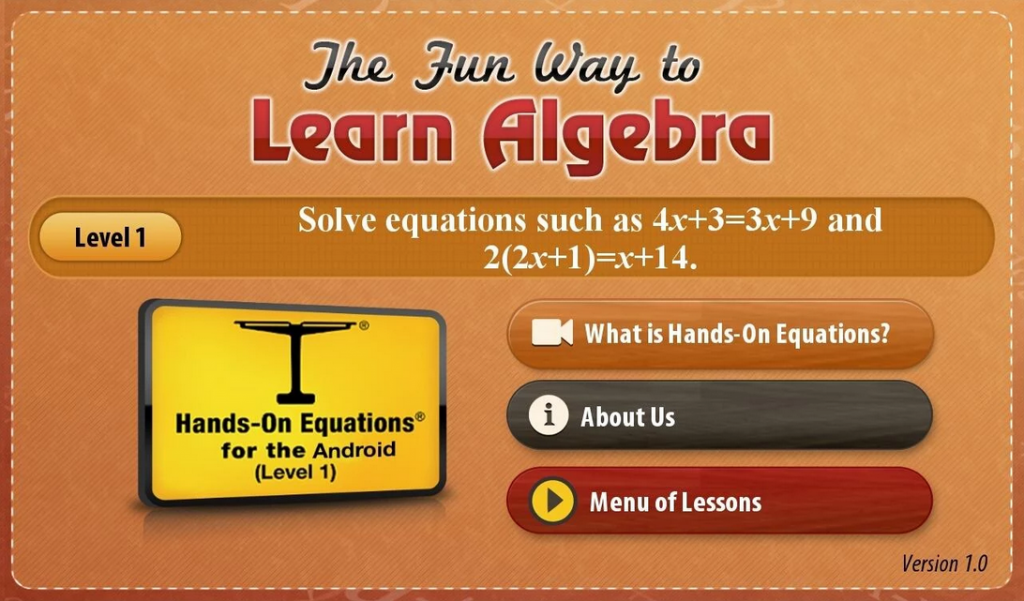 Hands on equations android app review